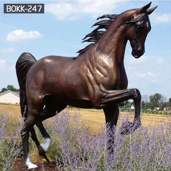 Best Bronze Horse Statue Life Size Hand Carved Animal Sculpture for Outdoor BOKK-247