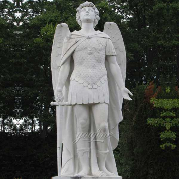CHS-735 Life Size Catholic Religious Statue St Michael the Archangel Outdoor Marble Statue Replica for Sale