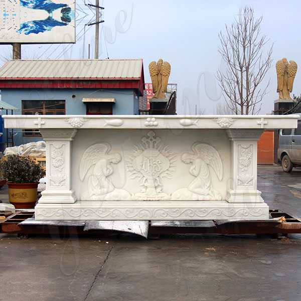 Home Altars For Sale: Church Decorative Indoor White Marble Altar Stand Table