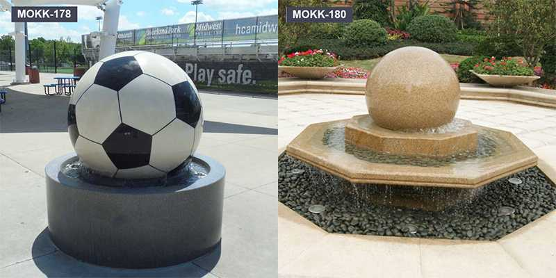 Cheap Granite Stone Round Ball Water Fountain for Sale