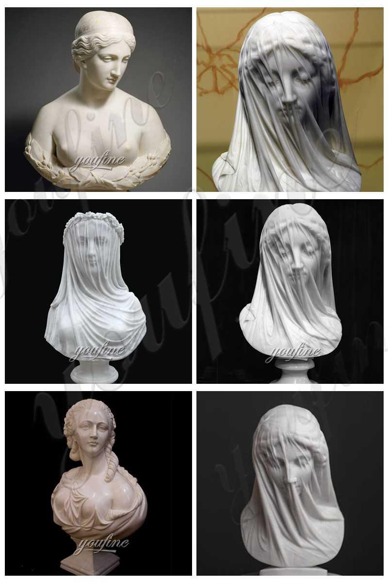 Famous Art Bust Statue The Veiled Virgin