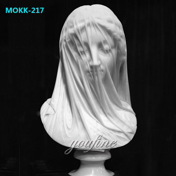 Famous Art Head Statue The Veiled Virgin by Giovanni Strazza for Home Decor MOKK-217