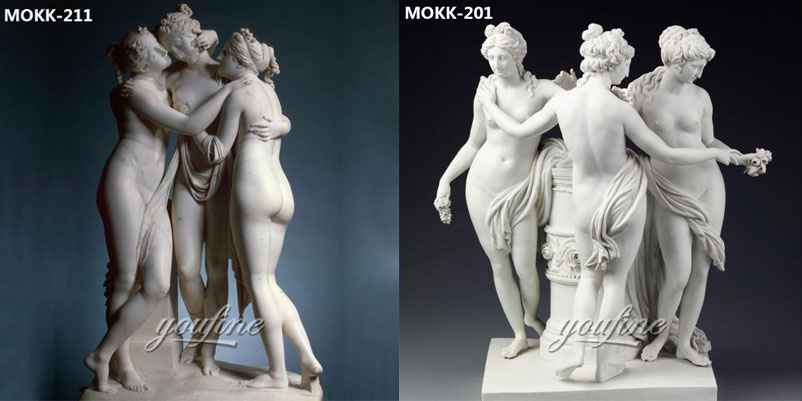 Famous-art-life-size-marble-the-three-graces-garden-ornaments-for-sale