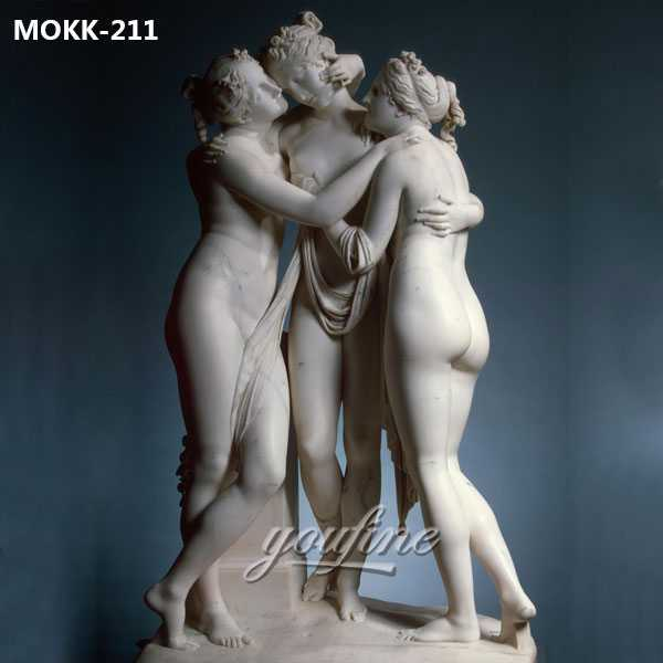 Famous Art Life Size Marble the Three Graces Garden Ornaments for Sale MOKK-211
