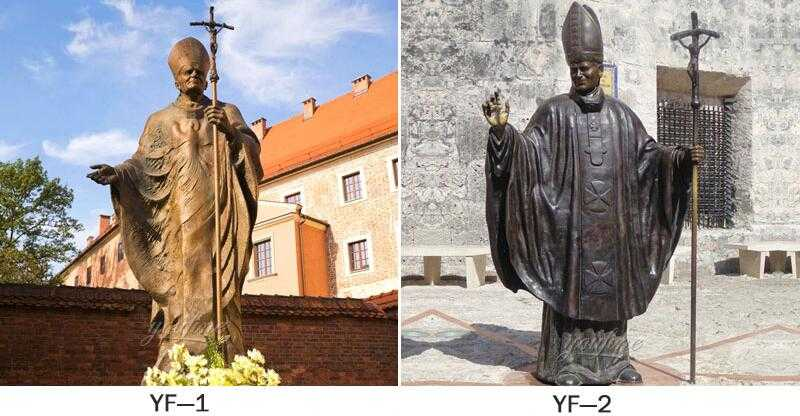 Famous bronze saint Pope John Paul II statue for sale