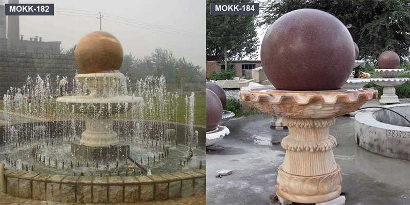 Floating Stone Rolling Sphere Garden Water Fountain