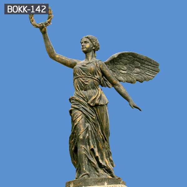 Park Sculpture Outdoor Large Angel Bronze Art Statue for Garden Decoration BOKK-142