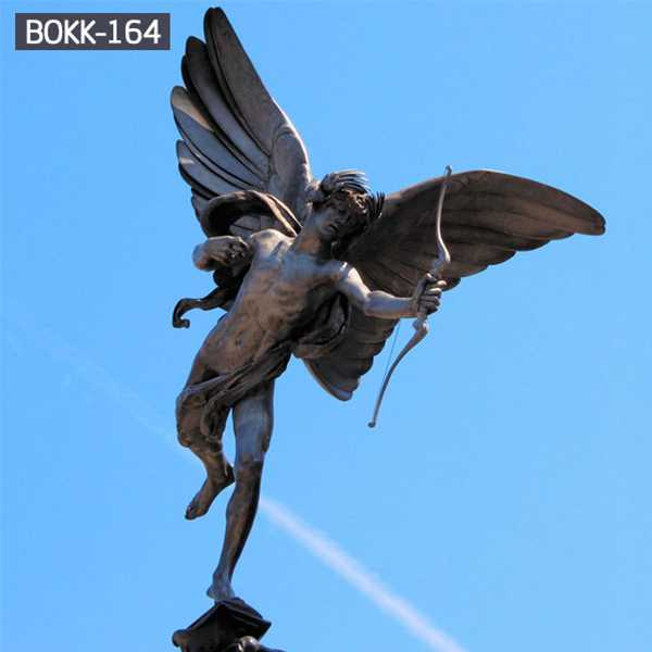 Hot Sale Bronze Brass Angel with Big Wings Statue Wholesale Metal Craft Bronze Angel Statue BOKK-164