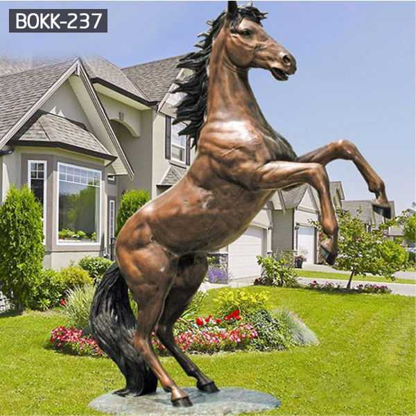 Large Bronze Outdoor Life Size Jumping Hoof Horse Statue