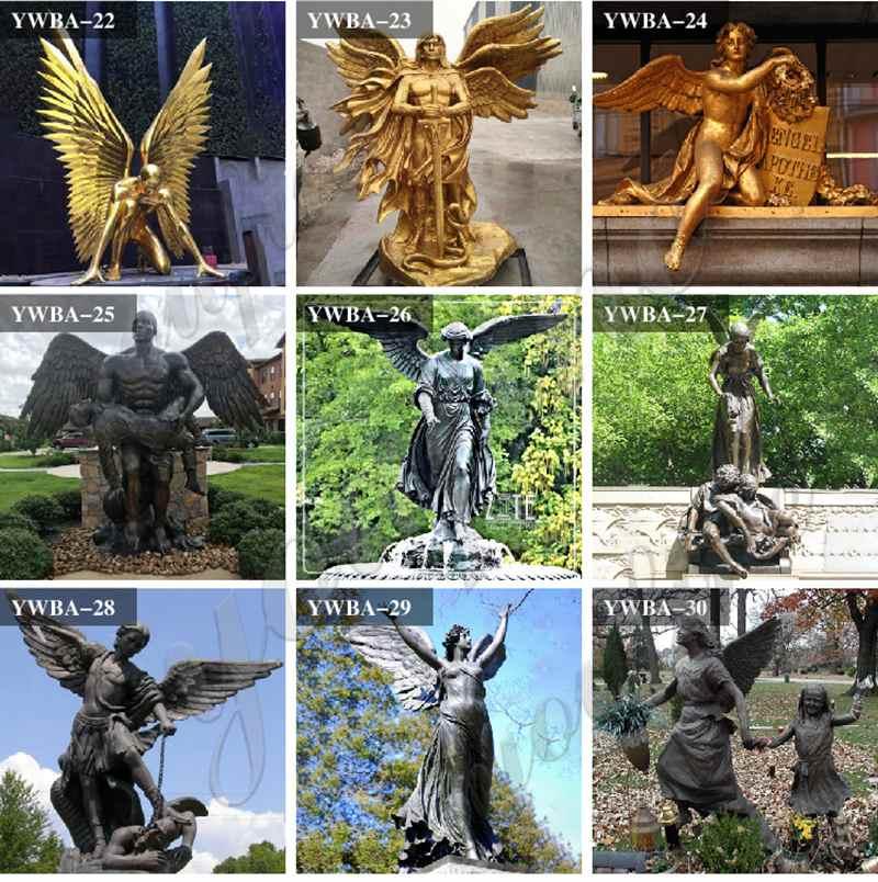 Large Casting Bronze Caduceus Angel Statue