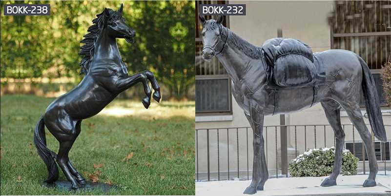 Life Size High Polished Bronze Fat Horse Statue For Garden Products for Sale-BOKK-219