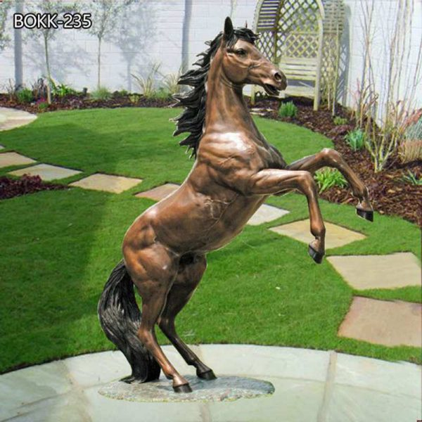 Life Size Jumping Hoof Horse Statue For Sale