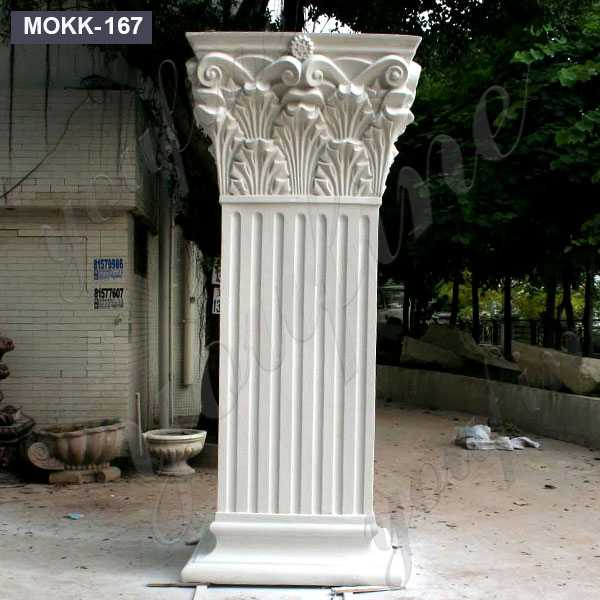 Outdoor Decorative Landscape White Marble Roman Column for Wedding MOKK-167