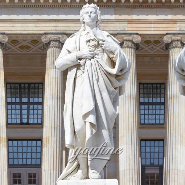 More Details of Outdoor Large-scale John Friedrich von Schiller Sculpture Marble Hand-carving are on Sale-MOKK-227