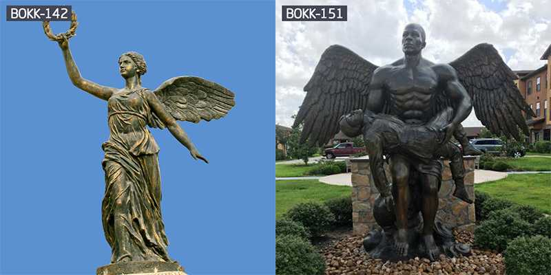 Park Sculpture Outdoor Large Angel Bronze Art Statue for Garden Decoration