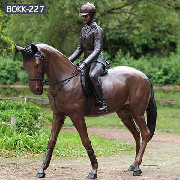 More Details About the Large Outdoor Garden Sculpture Bronze Horse for Sale-BOKK-227
