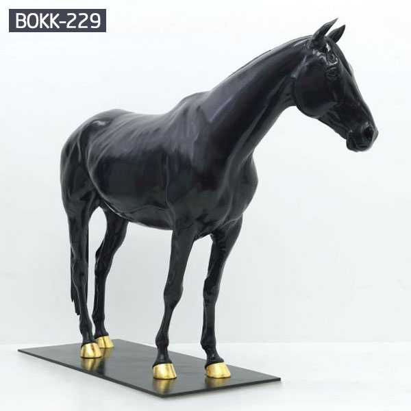 More Details About the Large Outdoor Garden Sculpture Bronze Horse for Sale-BOKK-227