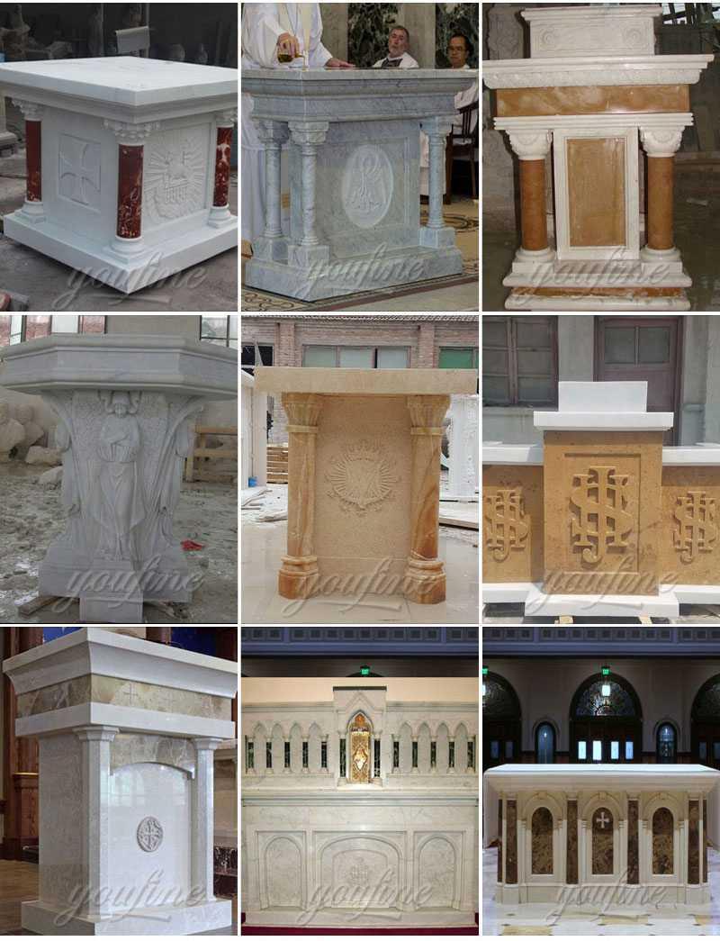 White Marble Church Altars for Home or Church Decor