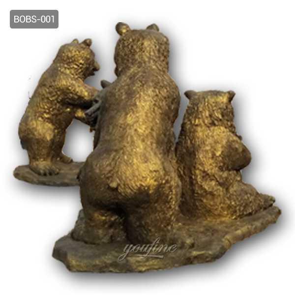 antique bronze bear statue for sale