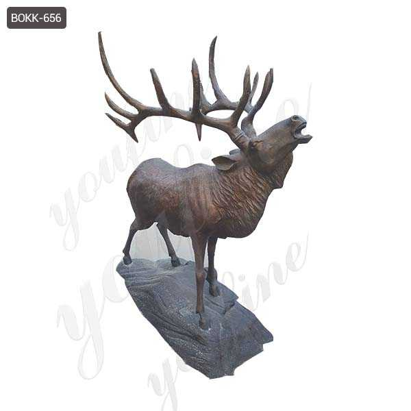 bronze elk statues outdoor antique wildlife animal statue for sale