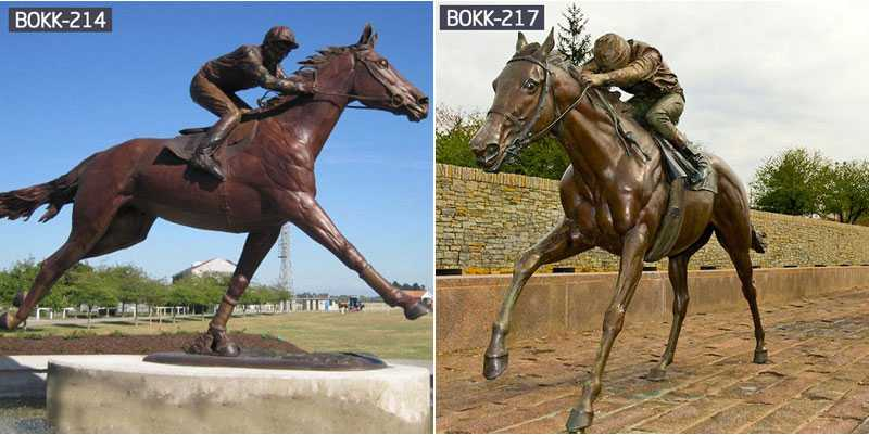 About the Casting Process of Large Outdoor Hand-carved Bronze Horse Sculpture for Sale-BOKK-237
