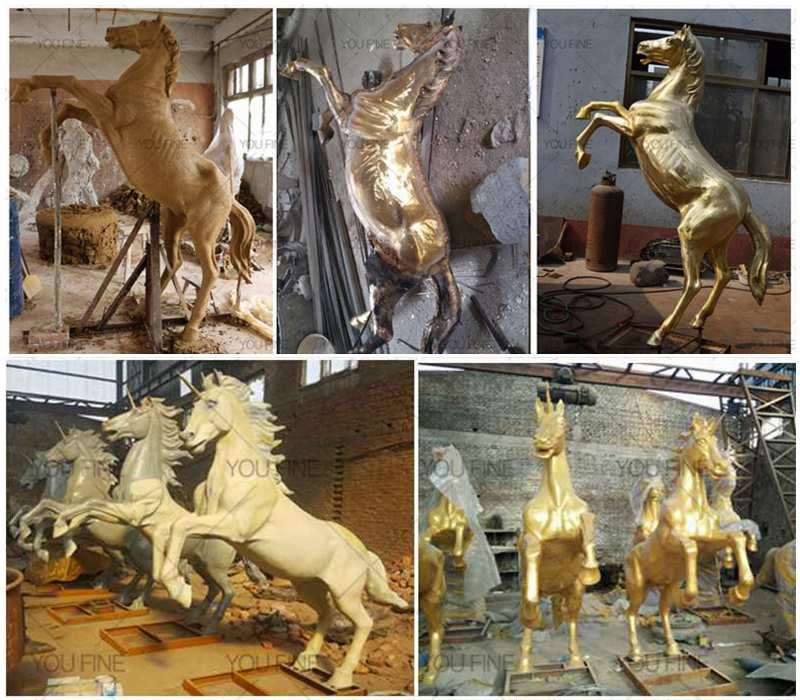 bronze horse statue process