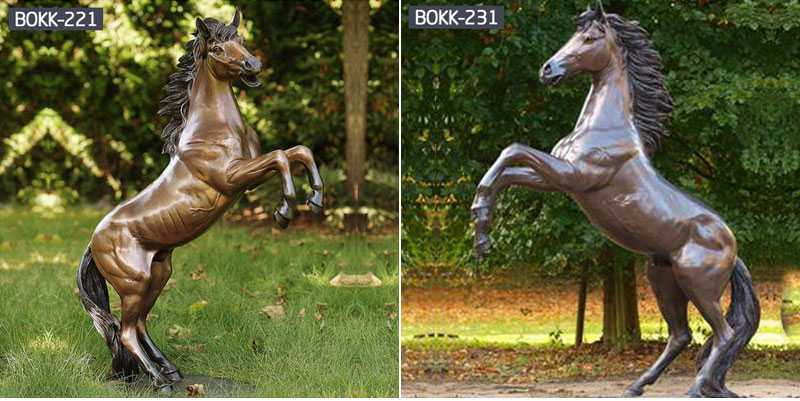 The second step in the manufacture of bronze horse sculpture: the use of mold-turning tools-BOKK-227