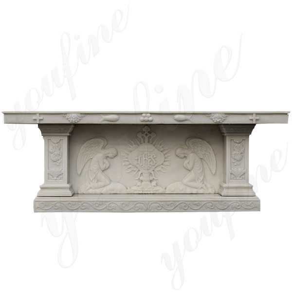 Home Altars For Sale: CHS-741 White Marble Church Altars For Home Or Church