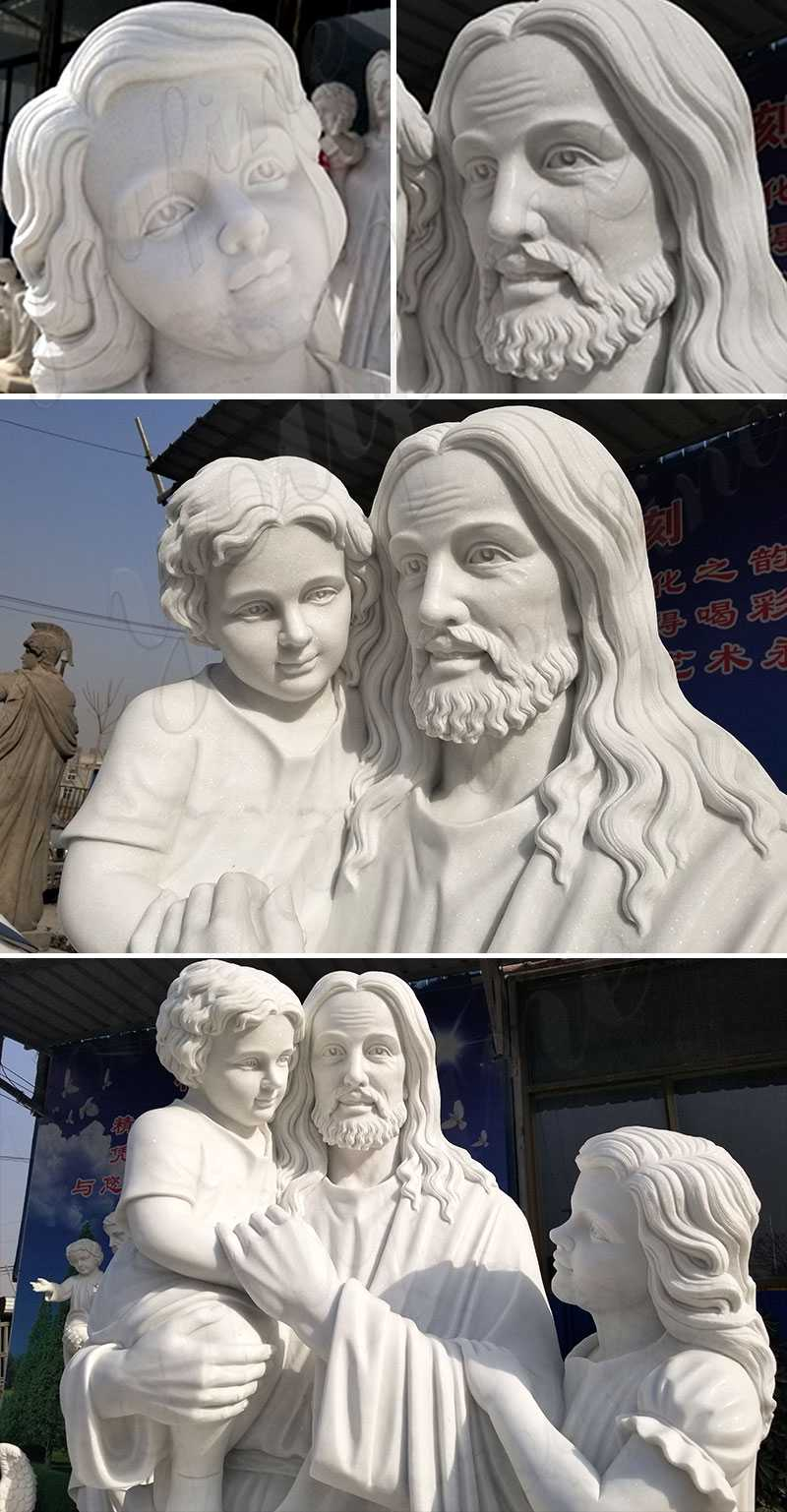catholic saint jesus with children statue for sale