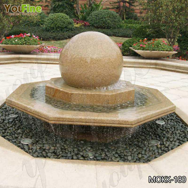 Floating Sphere Granite Fountain Stone Rolling Ball Sphere Fountain MOKK-180