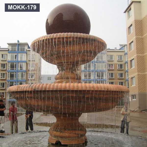 Chinese Style Outdoor Rolling Marble Floating Balls Water Fountain for Sale MOKK-179