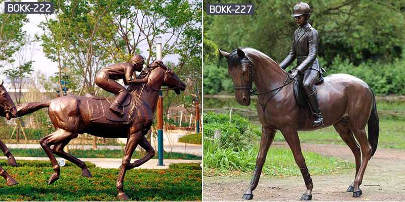 Best Bronze Horse Statue Life Size Hand Carved animal sculpture for Outdoor -BOKK-247