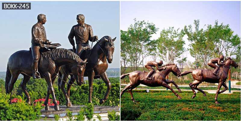 Outdoor Large-scale Hand-cast Bronze Horse Sculpture for Garden Decoration is Selling-BOKK-243