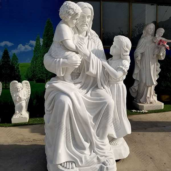 christ jesus with children statue for sale