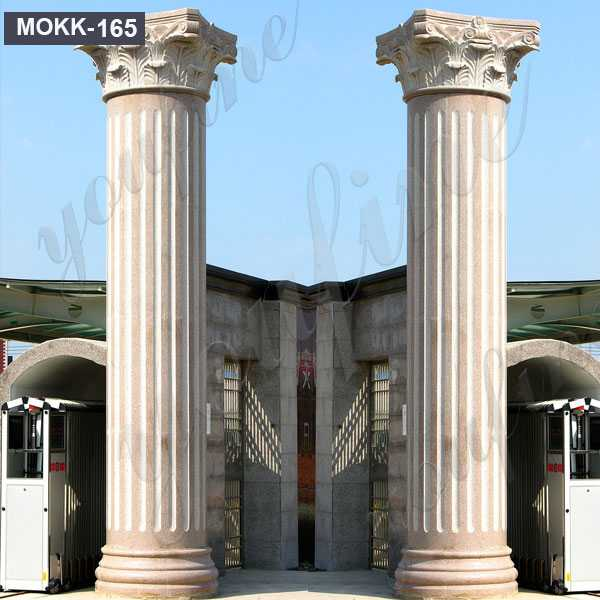 large antique greek corinthian order round fluted columns home depot for front square support design for sale MOKK-165