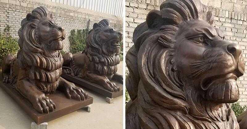 large bronze lion statue for sale