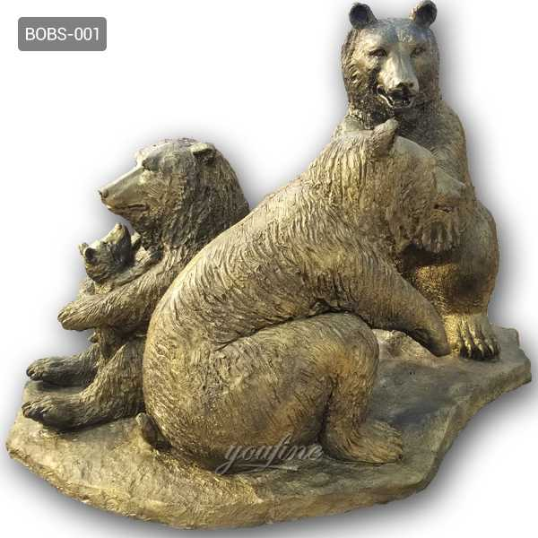 life size bronze bear sculpture for sale