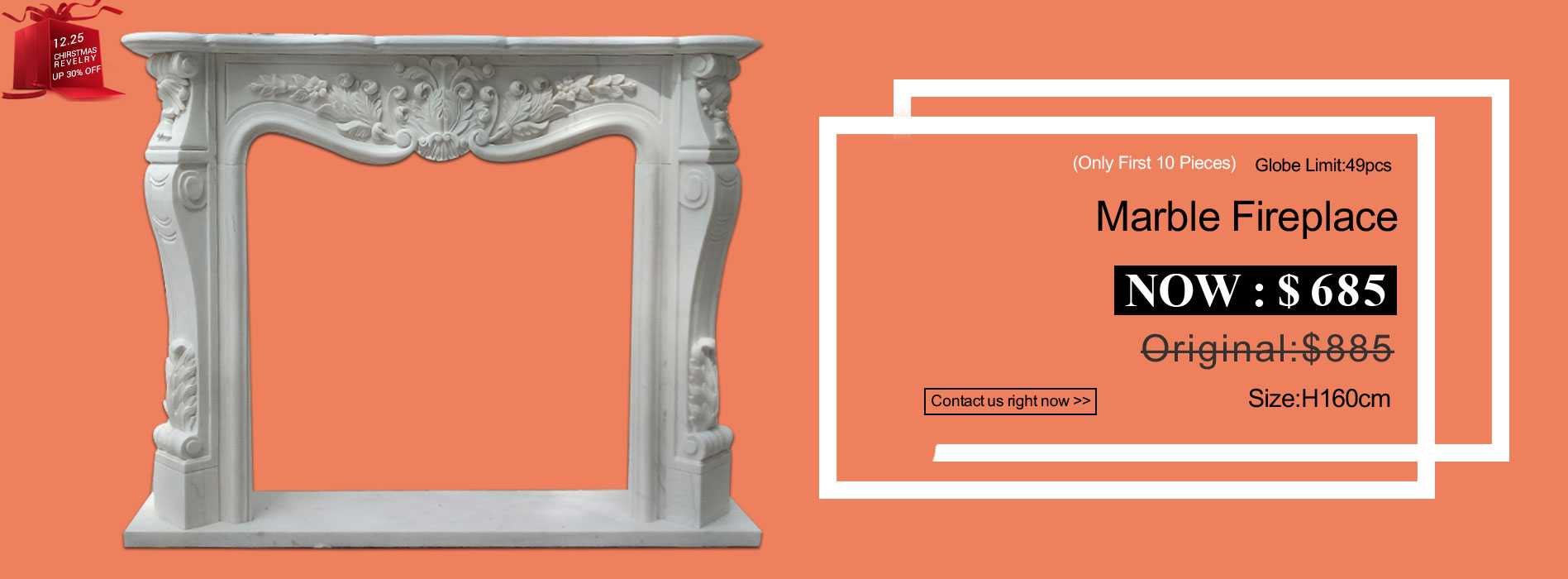 life size white marble fireplace mantel for sale