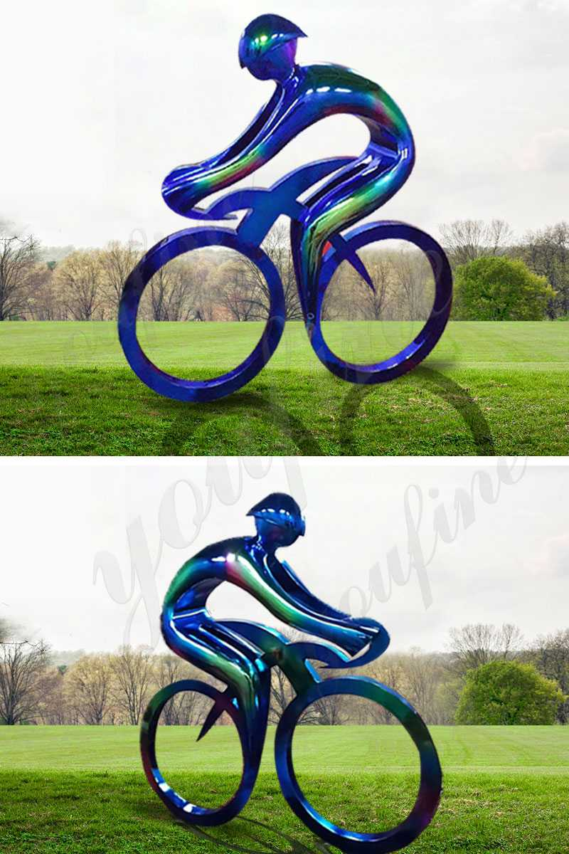 modern metal bicycle art sculpture lawn decor for sale