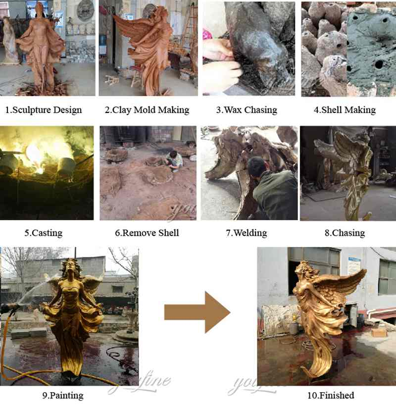 process of Bronze Classic Angle Sculptures