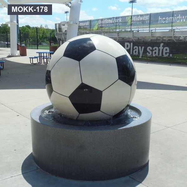 Cheap Granite Football Stone Round Ball Water Fountain for Sale MOKK-178
