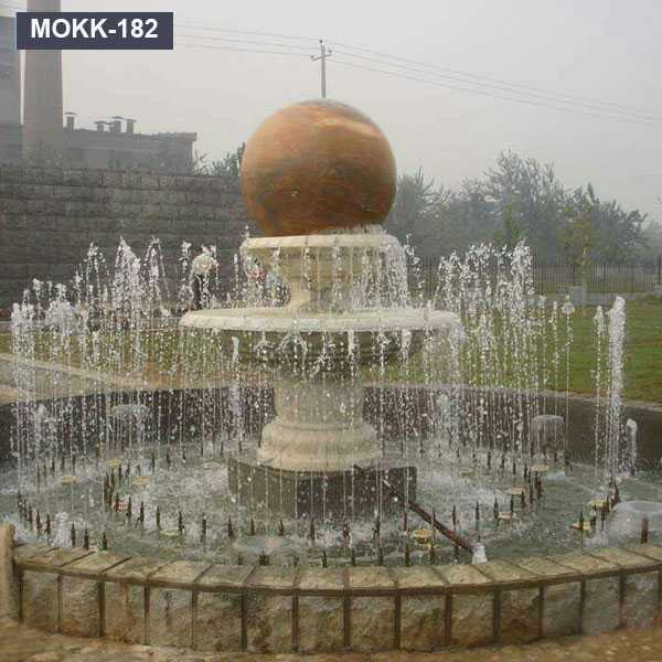 Floating Stone Rolling Sphere Garden Water Fountain for Sale MOKK-182