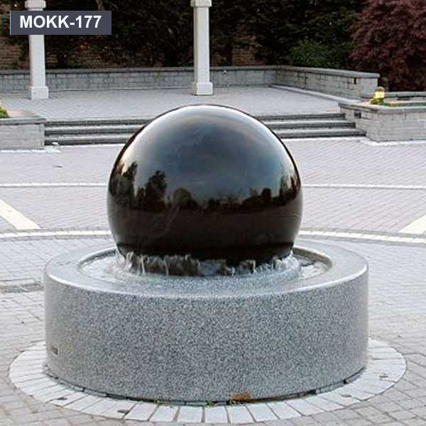 Black Garden Fountain Ball Rotating Granite Ball Fountain  MOKK-177