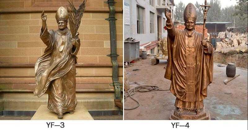 statue of bronze St. Pope John Paul II