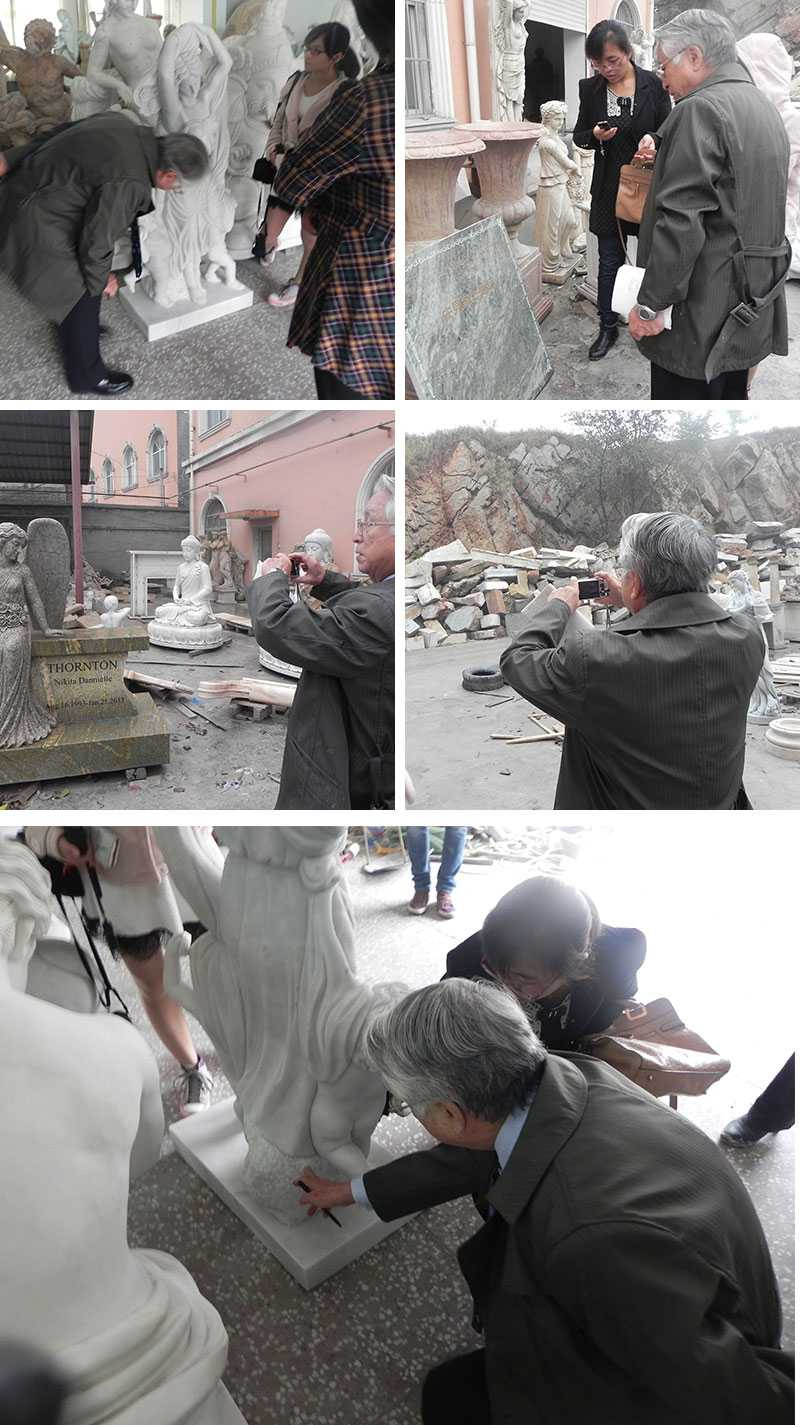 visiting our factory for white marble sculpture