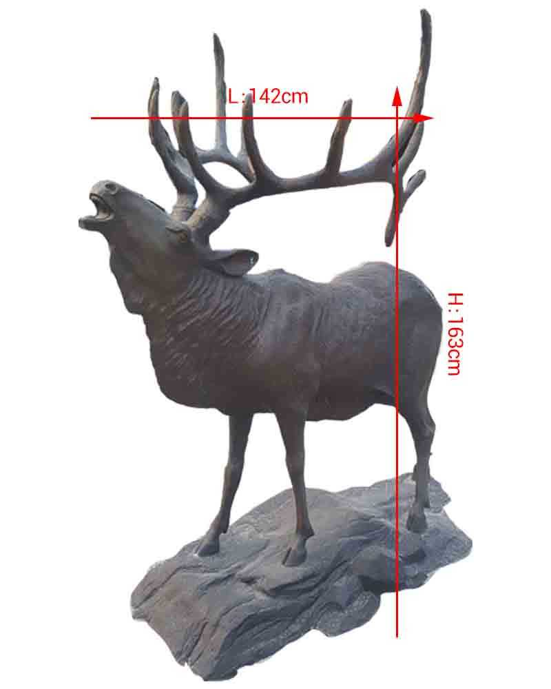 wildlife animal statue bronze elk statues for sale