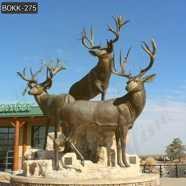 Antique bronze animal sculpture bronze stag statue garden design