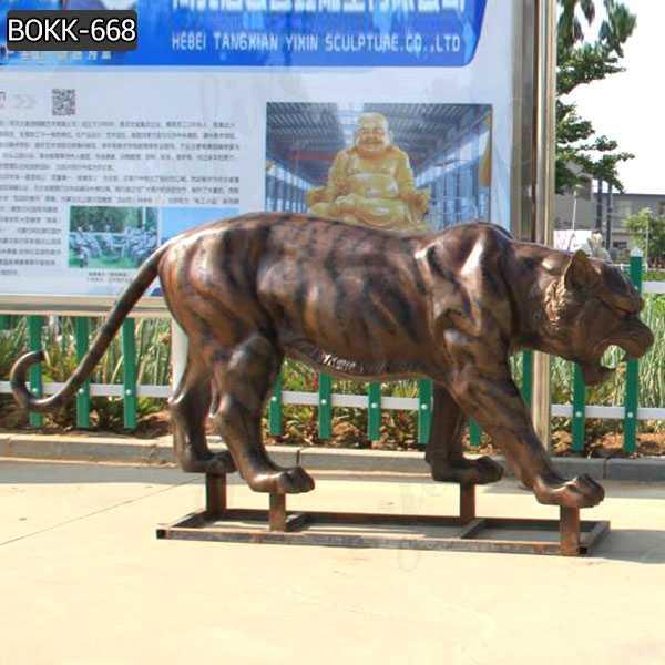 Life Size Metal Tiger Statue Custom Outdoor Bronze Mascot Sculpture for Sale