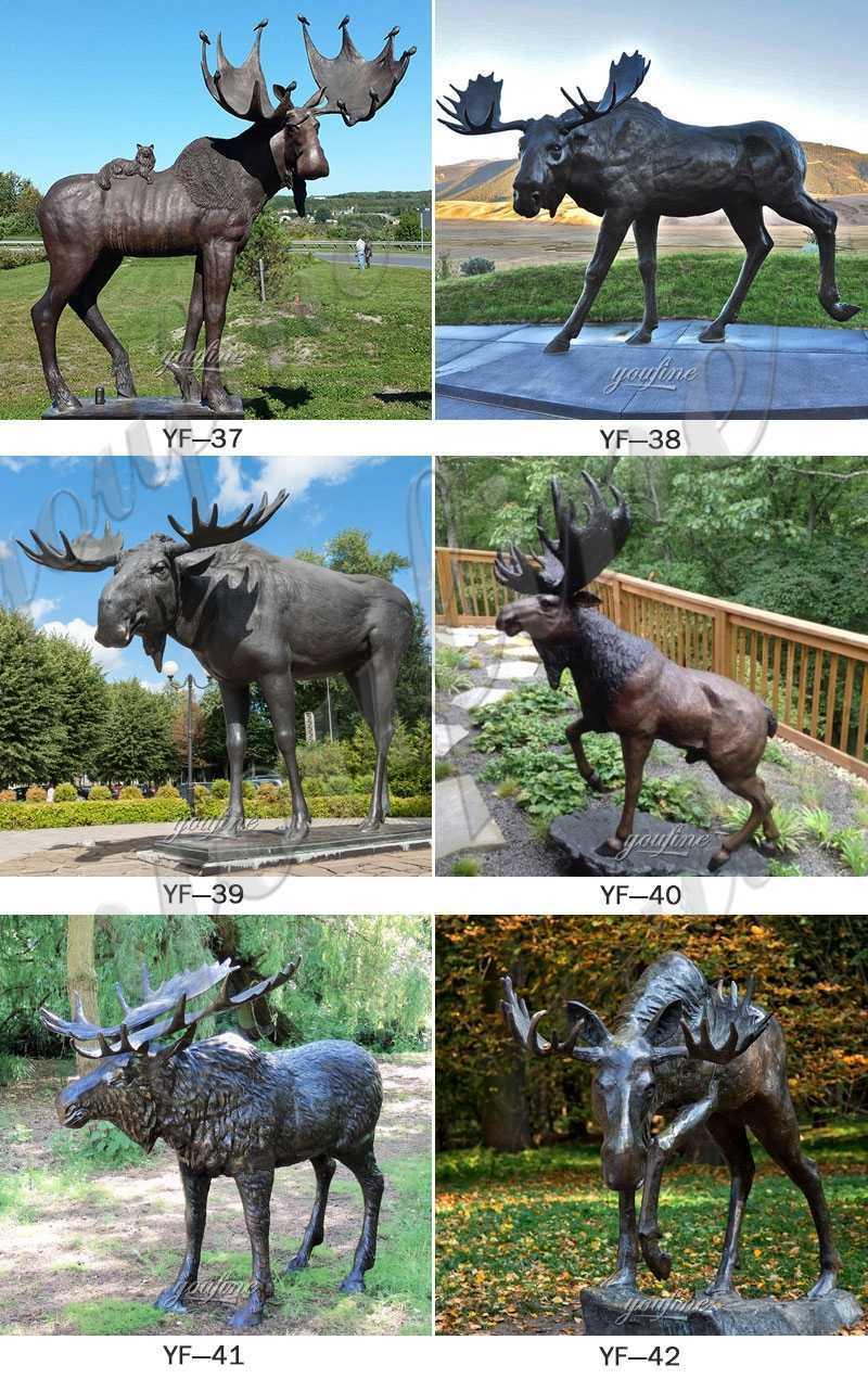 BOKK-273 casting Outdoor Bronze Elk Statue