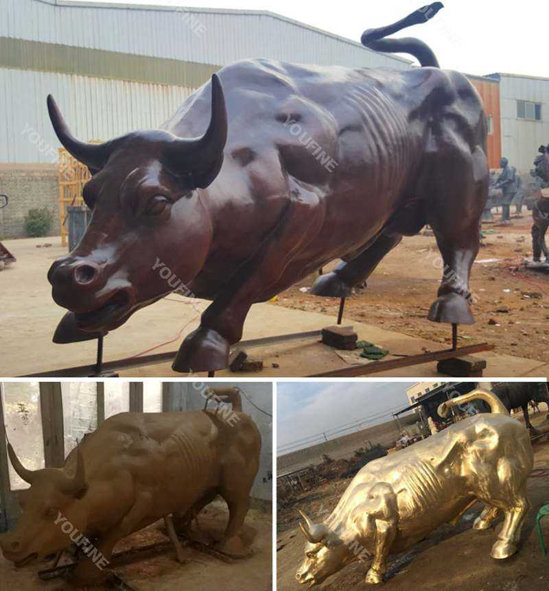 BOKK-671 life-size-antique-bronze-bull-statue-for-sale